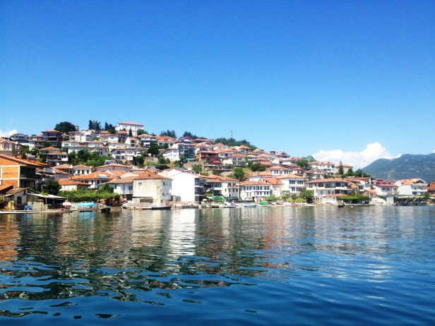 Villas and houses along the Ohrid waterfront