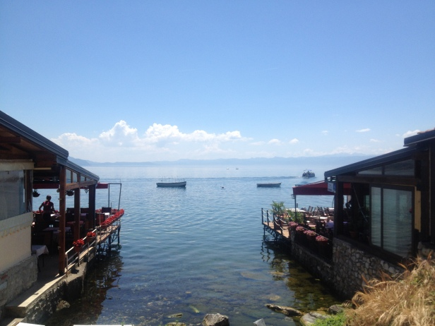 Restaurants and cafes line Ohrid's coast, serving up delectable fresh seafood dishes and refreshing beverages.