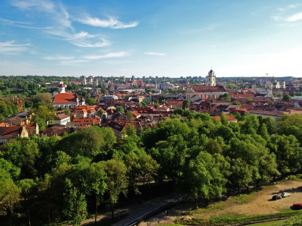 View of Vilnius Old Town from Gediminas' Tower