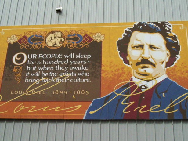 Louis Riel quote in Moose Jaw, Saskatchewan.