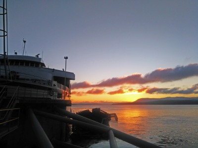 Sunset at Otter Bay Ferry Terminal - I don't want to go home.